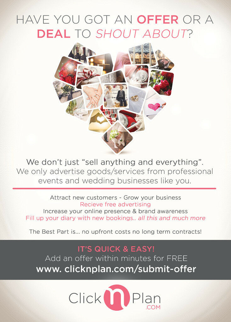 Do You Offer Wedding/Events Services? Get FREE Advertising today.