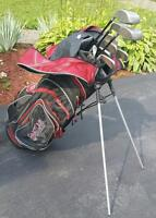 Used golf bag and clubs $25