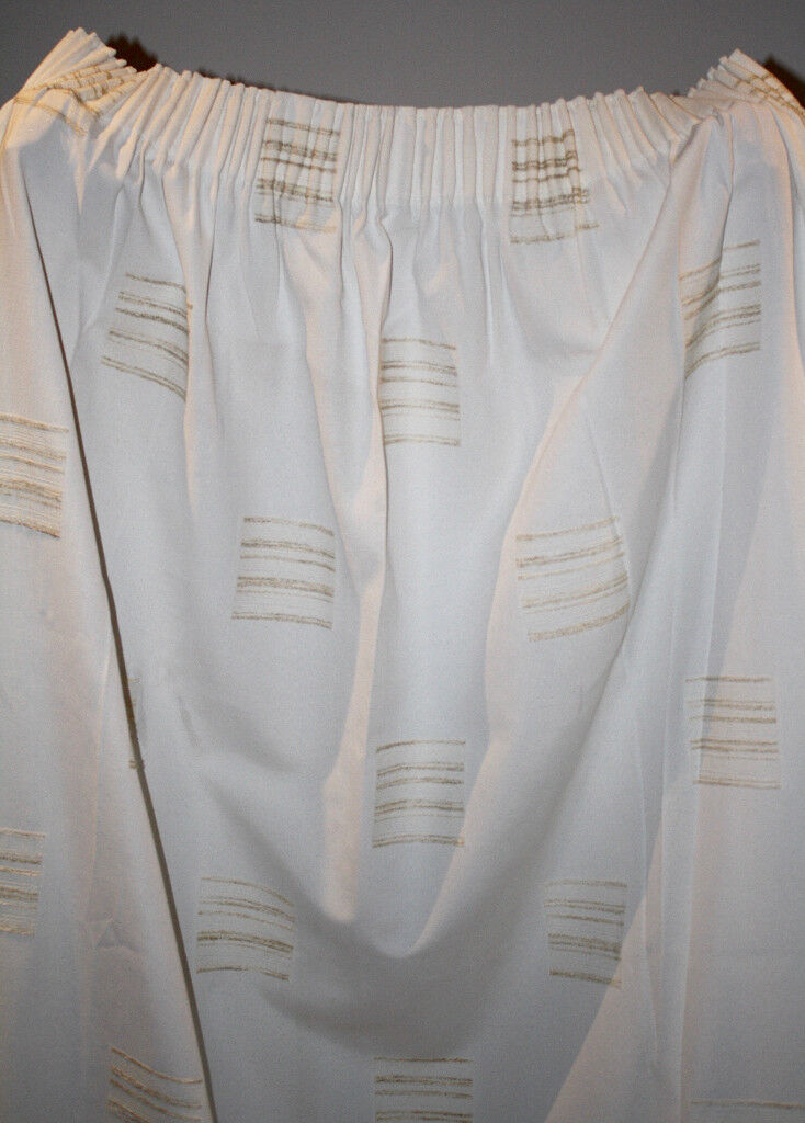 Pair of Off White Curtains 210cm Drop Rufflette Heading Tape (7 pairs available)