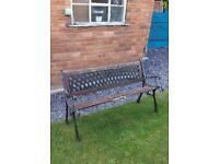 Garden Outdoor Restoration Wooden & Metal Bench