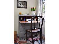 Shabby Chic Writing Bureau Desk Painted Farrow and Ball £120