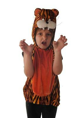 Tiger Costume Tabard Head Circus Zoo Safari Book Week age 5 - 6 Easy Simple