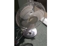 Electic fan, oscillating and static, 14inch diameter, 3 speed