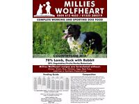 Millies Wolfheart Countryside Mix Dog Food 14.5kg plus 1.2kg Millies Obedience Mix