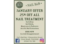 25% off all Nail Treatments