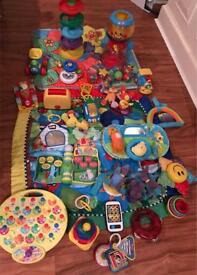 Bundle of baby toys fisher price mats spin balls car activity in the new night gardens peppa