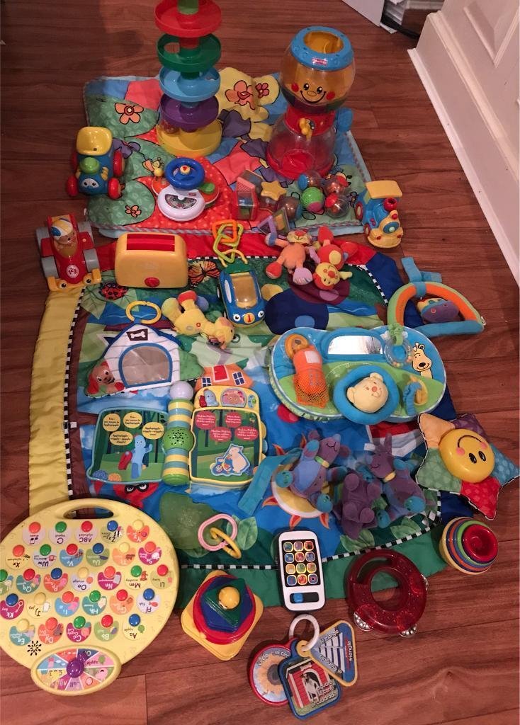 Bundle of baby toys fisher price mats spin