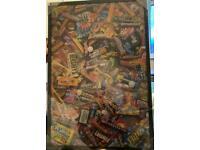 Large Retro Sweet Picture In Frame