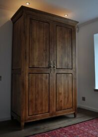 Exceptional quality solid oak cabinet/wardrobe