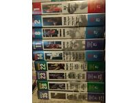 """9 Marshall Cavendish's """"Boxers"""" collection VHS tapes. Volumes 1, 2, 8, 11, 14, 22, 23, 28 and 35."""