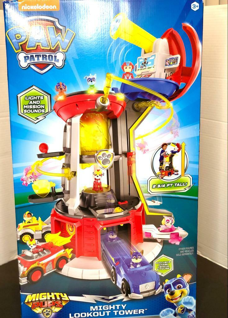 PAW Patrol, Mighty Pups Super PAWs Lookout Tower Playset wit