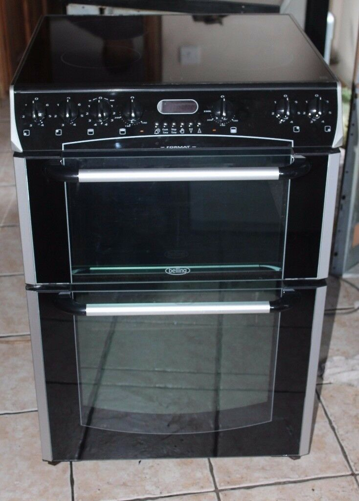6 MONTHS WARRANTY Belling Format 60cm, double oven electric cooker FREE DELIVERY