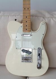 FENDER STANDARD TELECASTER MEXICAN ARCTIC WHITE UPGRADED DUNCANS MINT CONDITION POSTAGE AVAILABLE