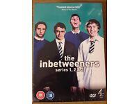 The Inbetweeners, series 1-3, boxed set, new (still in cellophane) plus Inbetweeners Movie (new)