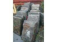 4-off Large sized Sandstone blocks various sizes. Most blocks are approximately 700 x 500 x 200