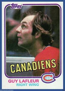 GUY LAFLEUR ...... 1981-82 TOPPS ...... hockey card