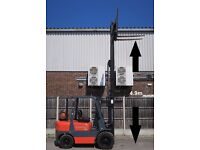 Nexen FG30 3 Ton 4 Wheel Triple 4.8m Mast Sideshift LPG Gas Forklift Truck Great Condition LOW HOURS