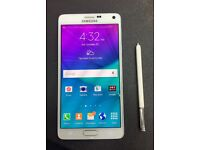 Samsung Galaxy Note 4 White Mint condition
