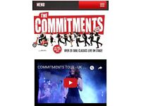 4 tickets for the Commitments Cardiff