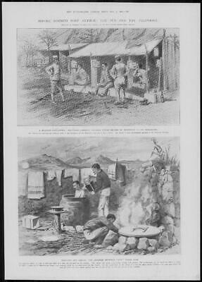 1904 Antique Print - PORT ARTHUR Military Telephone Call Office Bath Tubs (283)