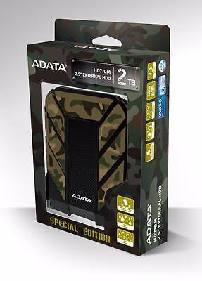 "ADATA HD710M 2 TB 2.5"" External Hard Drive Waterproof Dustproof Shockproof 2TB"