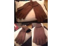 MENS BRAND NEW COTTON KHAKI GLOVES SIZE LARGE