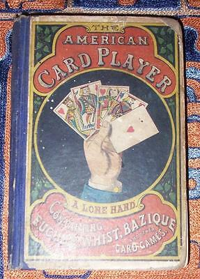 XRARE: 1866 The American Card Player 1st book with rules of poker Euchre Whist