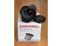 Brand New Samyang 12mm F2 lens for Sony E mount cameras
