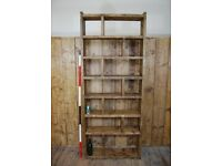 TALL pigeon holes zig zag bookcase home office storage reclaimed wood industrial 7 rows UK gplanera
