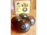 "SET OF 5"" LAWN BOWLS by BREWER of AUSTRALIA"