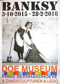 BANKSY - 'Keep it spotless' - extremely rare original exhibition poster - very large (Doe Museum)