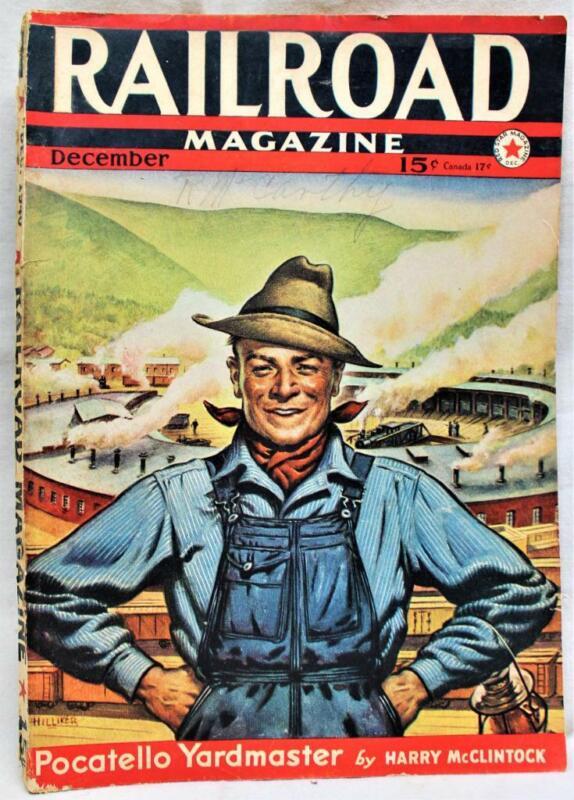 RAILROAD MAGAZINE PUBLICATION DECEMBER 1940 FICTION & TRUE TRAIN STORIES