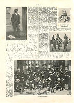 i8822 JAPAN Soldaten Infanterie Armee, alter Artikel a. Illustrierte v. 1904