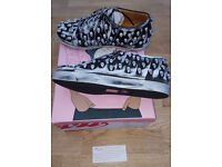 New Ladies Jeffrey Campbell Riggs Skull Trainers UK Size 5