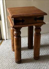 Stunning Solid Wood Side/Occasional Table