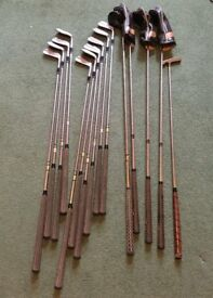 "Vintage Set of Golf Clubs inc. Dunlop ""Peter Thomson"" Irons , Ben Sayers & Karsten III Woods"