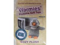 NEW Microwave Heatable Soft Toy Penguin by Warmies