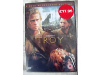 NEW & sealed in original cellophane packaging TROY DVD - Brad Pitt & Orlando Bloom.Can post. £1.50