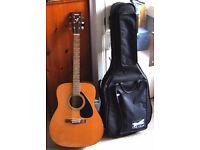 Yamaha F310 acoustic 1990s vintage+good case, Exc condn