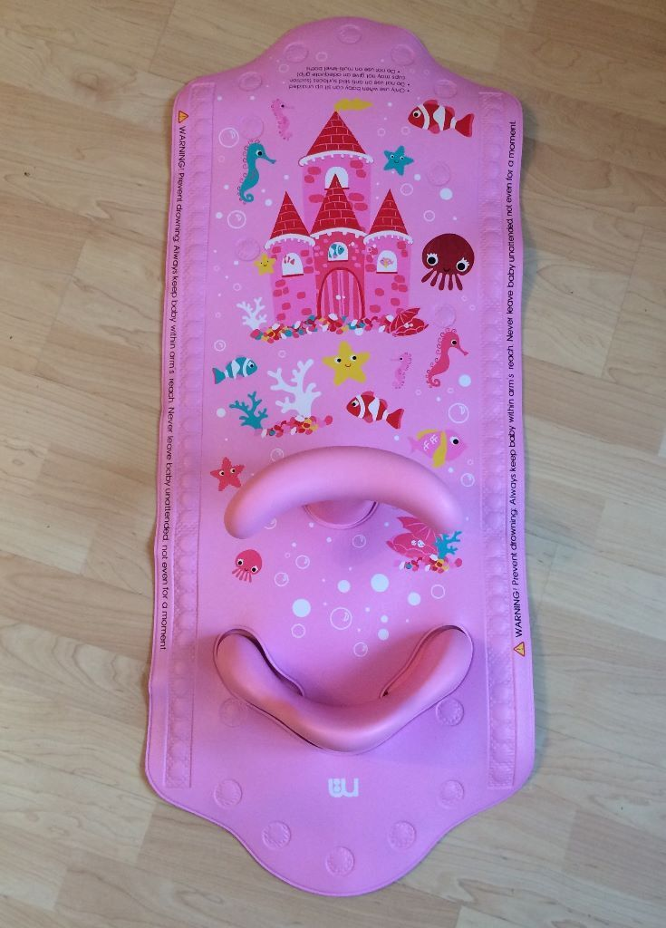 Mothercare Aquapod Baby Pink Bath Seat & Mat - Excellent Condition ...