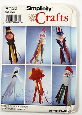 Simplicity Crafts Pattern 8156 Holiday Windsocks Christmas Halloween UNCUT](Halloween Windsocks Craft)
