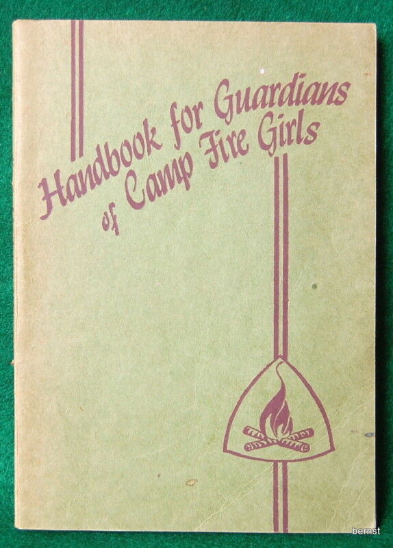 1950 CAMPFIRE GIRL HANDBOOK FOR GUARDIANS - NOT SCOUT