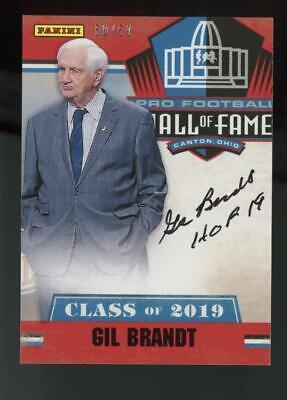 2019 Panini Hall of Fame Gil Brandt HOF 19 inscription 50/50 Auto Autograph