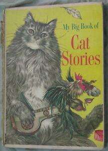 RARE MY BIG BOOK OF CAT STORIES, ILLUSTRATIONS, 1ST EDITION 1967