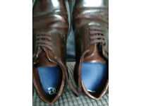 Dr Martens size 7 Brown Oxford Styled shoe (narrow fit ..may suit lady?)