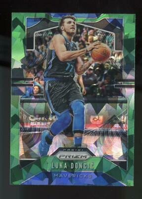 2019 Panini Prizm Fanatics Green Ice SP #75 Luka Doncic 2nd Year