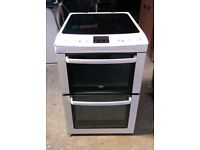 55CM WIDE, 6 MONTHS WARRANTY Zanussi double oven electric cooker FREE DELIVERY