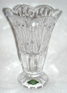 SHANNON DESIGNS OF IRELAND 24% LEAD CRYSTAL Tulip Shaped VASE New w / Tags