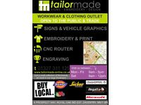 Tailormade Signs-Embroidery-Design Vehicle Wraps & Livery