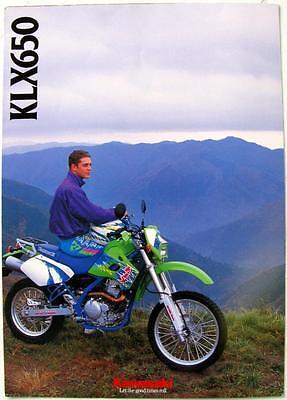 KAWASAKI KLX 650 - Motorcycle Sales Brochure - 1993 - P/N99948-1156 ALL-E III-I